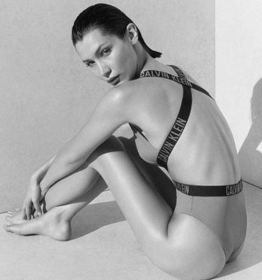 Белла Хадид в новой рекламной кампании бренда Calvin Klein / Фото Elle