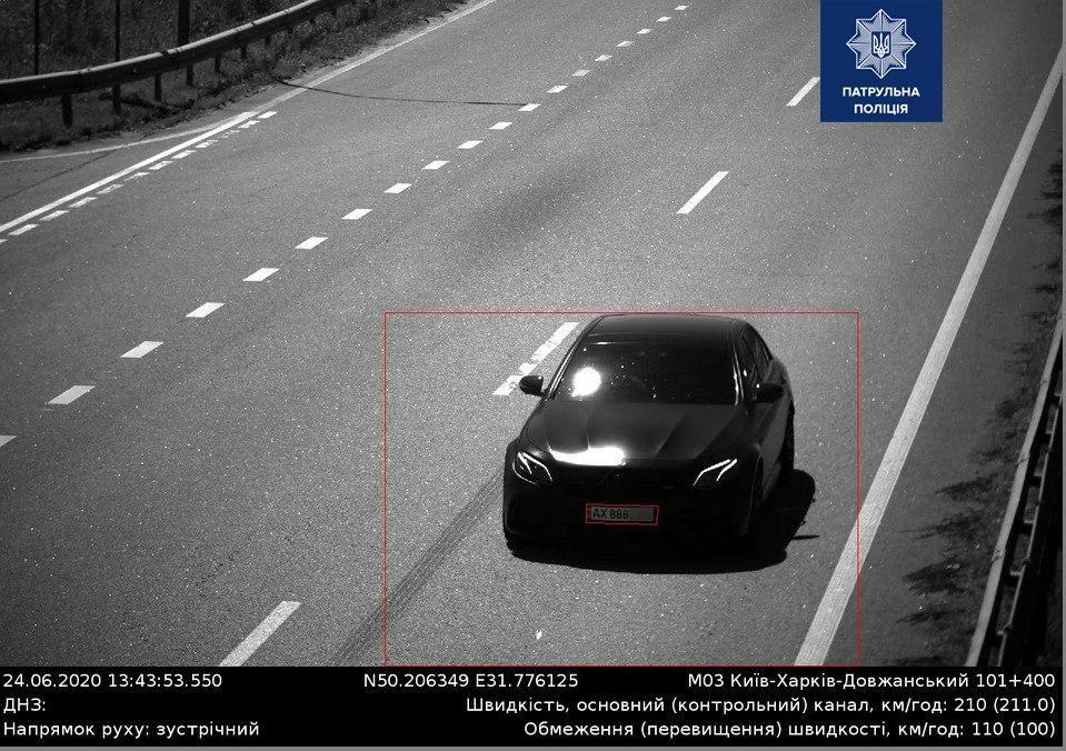 Копы показали фото авто-нарушителя / Патрульная полиция Украина