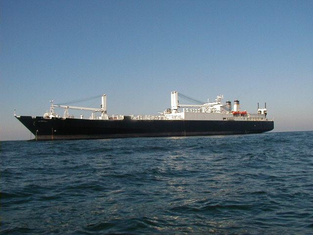 "Американське судно ""Капрал Рой Віт"" походить з України/ Twitter/USTRANSCOM"