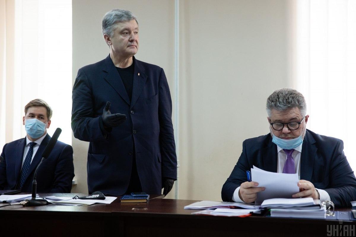 Порошенко на суде / фото УНИАН