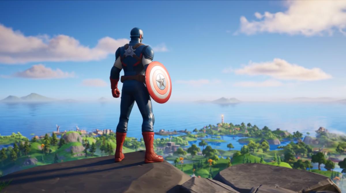 У Fortnite з'явився Капітан Америка / скріншот