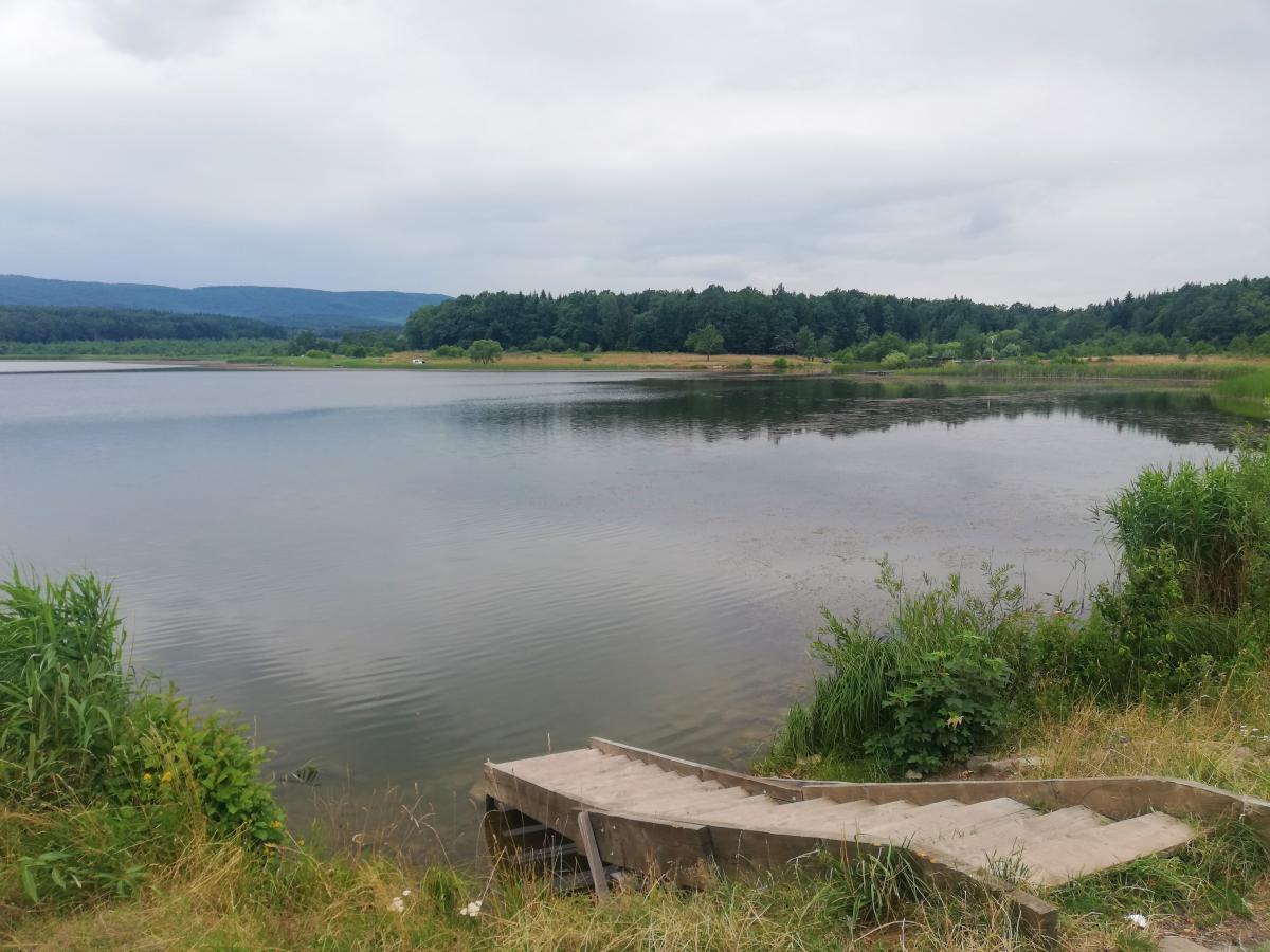 Доброгостовское озеро довольно популярно среди отдыхающих / фото Марина Григоренко