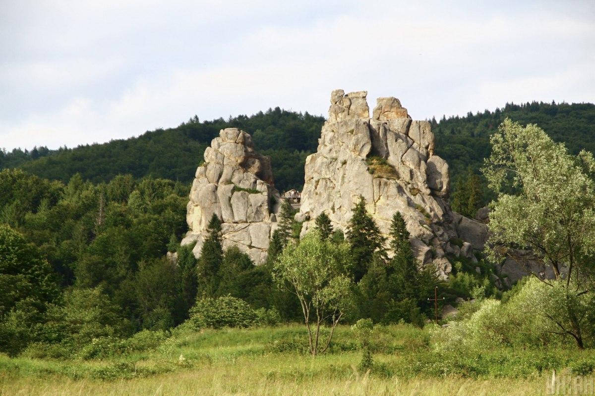 Заповідник «Тустань» недалеко від Урича / фото УНІАН