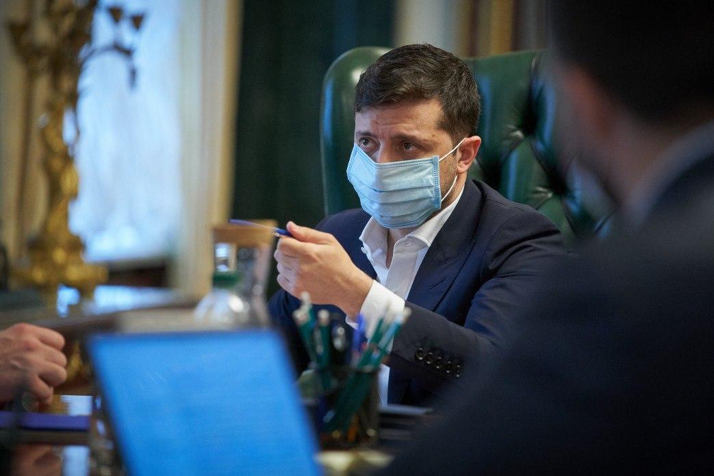 Президент отметил, что из-за эпидемии строительство началось значительно позже запланированного \ фото president.gov.ua
