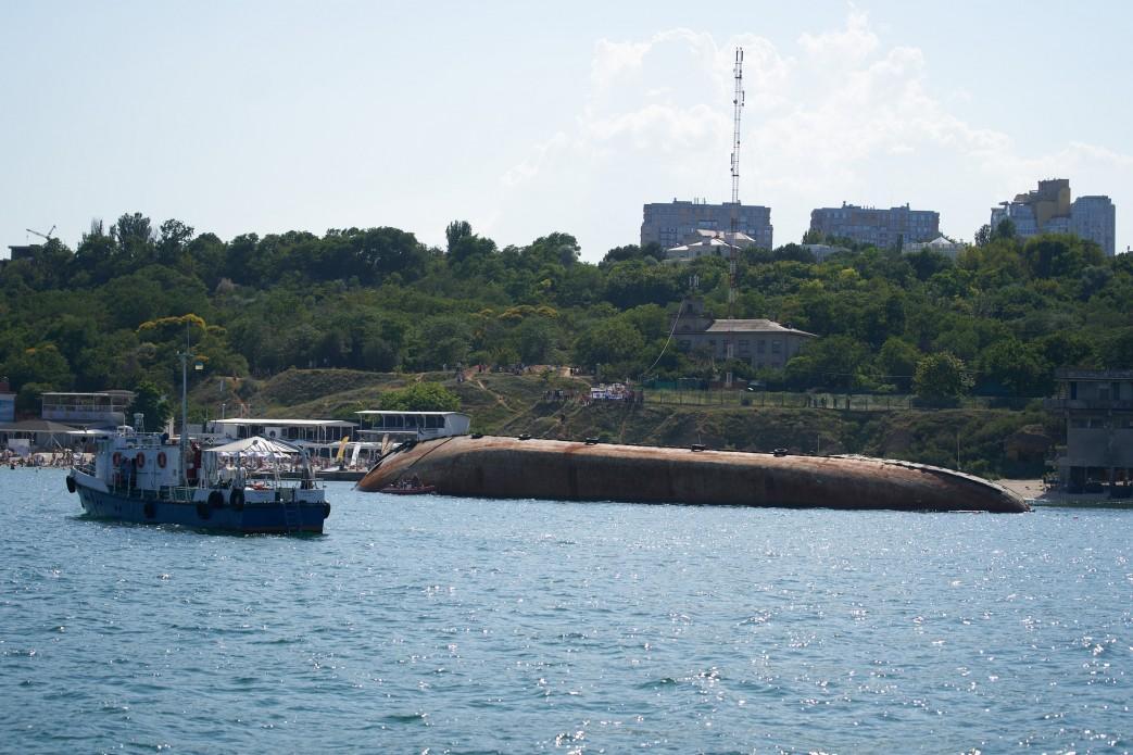 В листопаді 2019 року в Чорному морі біля Одеси зазнав аварії танкер «Делфі» / president.gov.ua