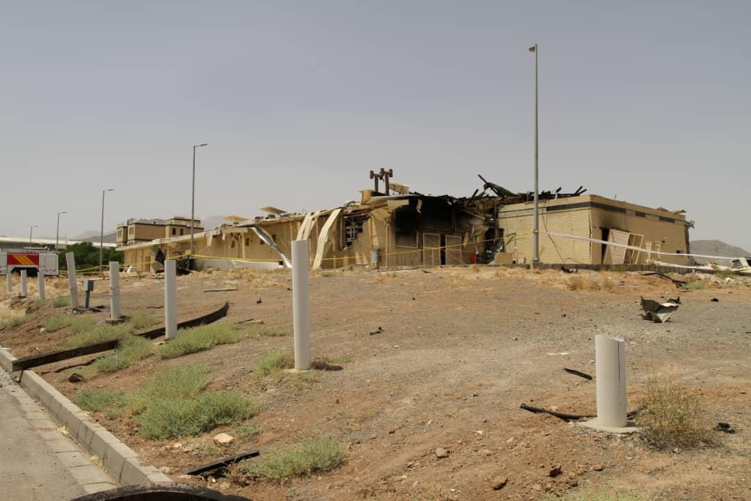 Поврежденный после пожара иранскийядерныйобъектв Натанзе / REUTERS