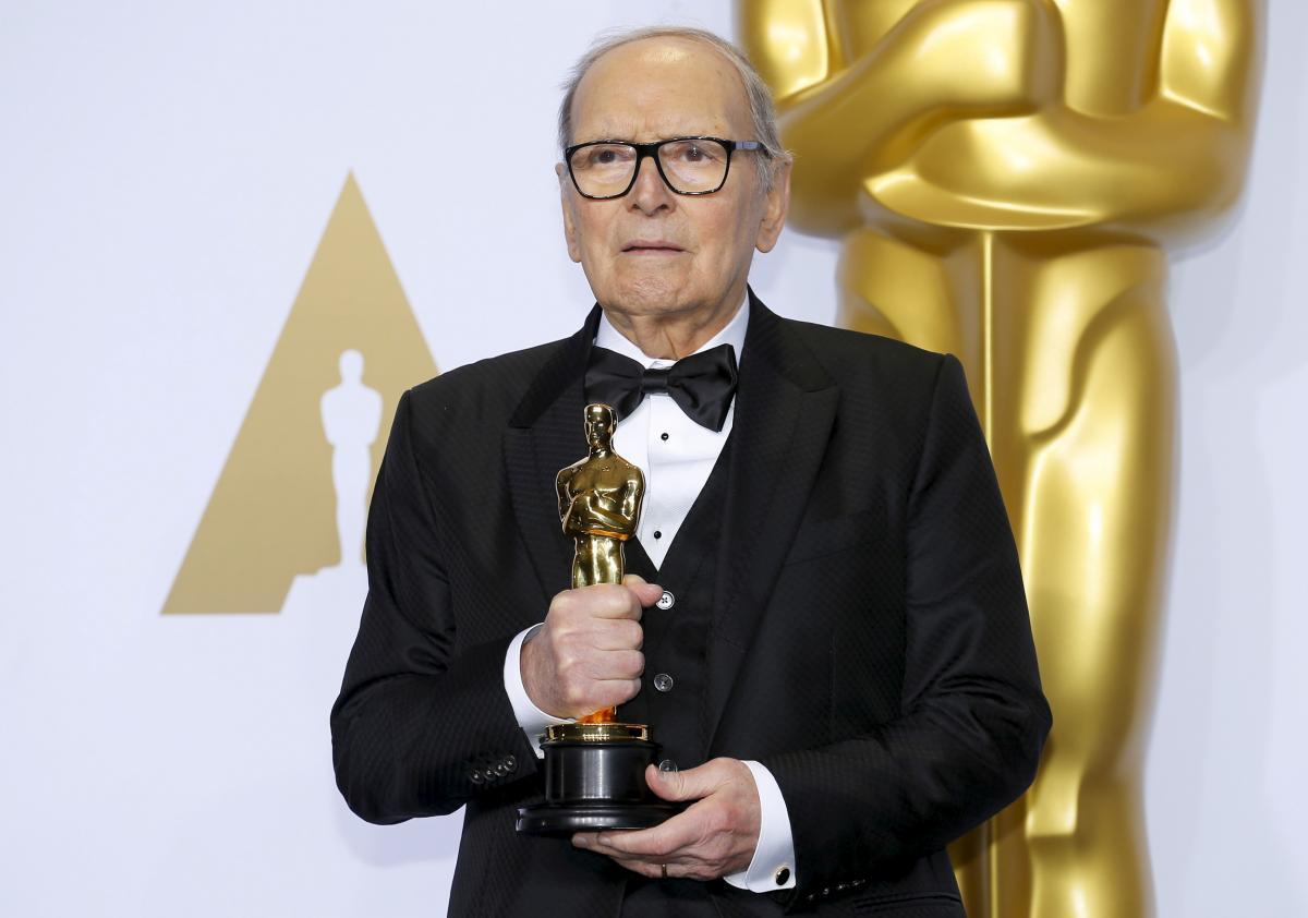 """В 2016 году Морриконе получил """"Оскар"""" за музыку к фильму Тарантино """"Омерзительная восьмерка"""" / REUTERS"""