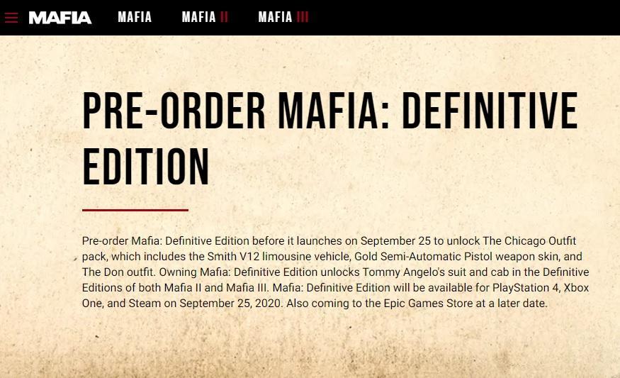 Новая дата релиза на сайте игры / mafiagame.com