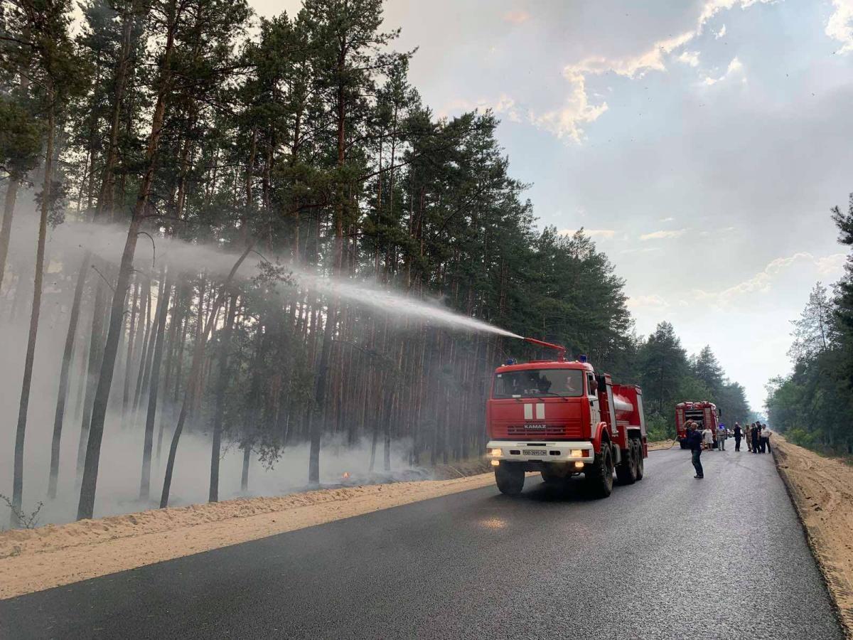9 июля спасателям удалось локализовать пожар / фото ГСЧС