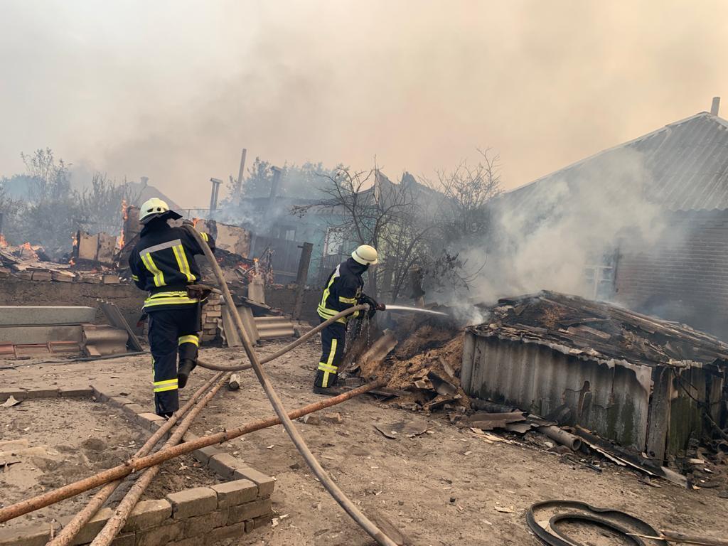 По словам Шмыгаля, на Луганщине удалось не допустить распространения огня на потенциально опасные объекты / фото dsns.gov.ua