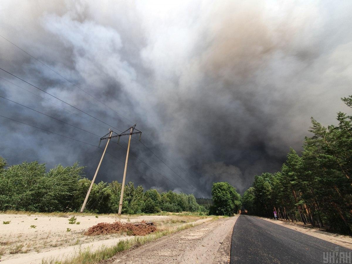 Пожары на Луганщине - полиция заявила о трех версияхвозникновения пожаров / фото УНИАН