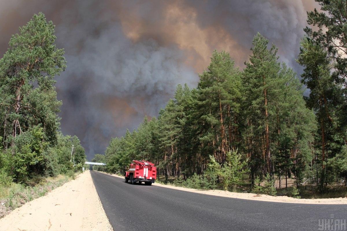 13 июля пожар был ликвидирован / фото УНИАН