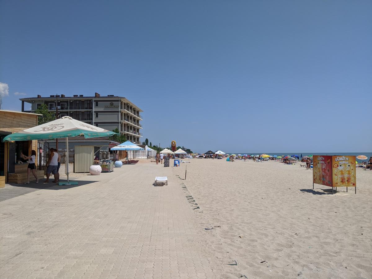 Пляжи Затоки довольно широкие и песчаные / фото Варвара Вайс