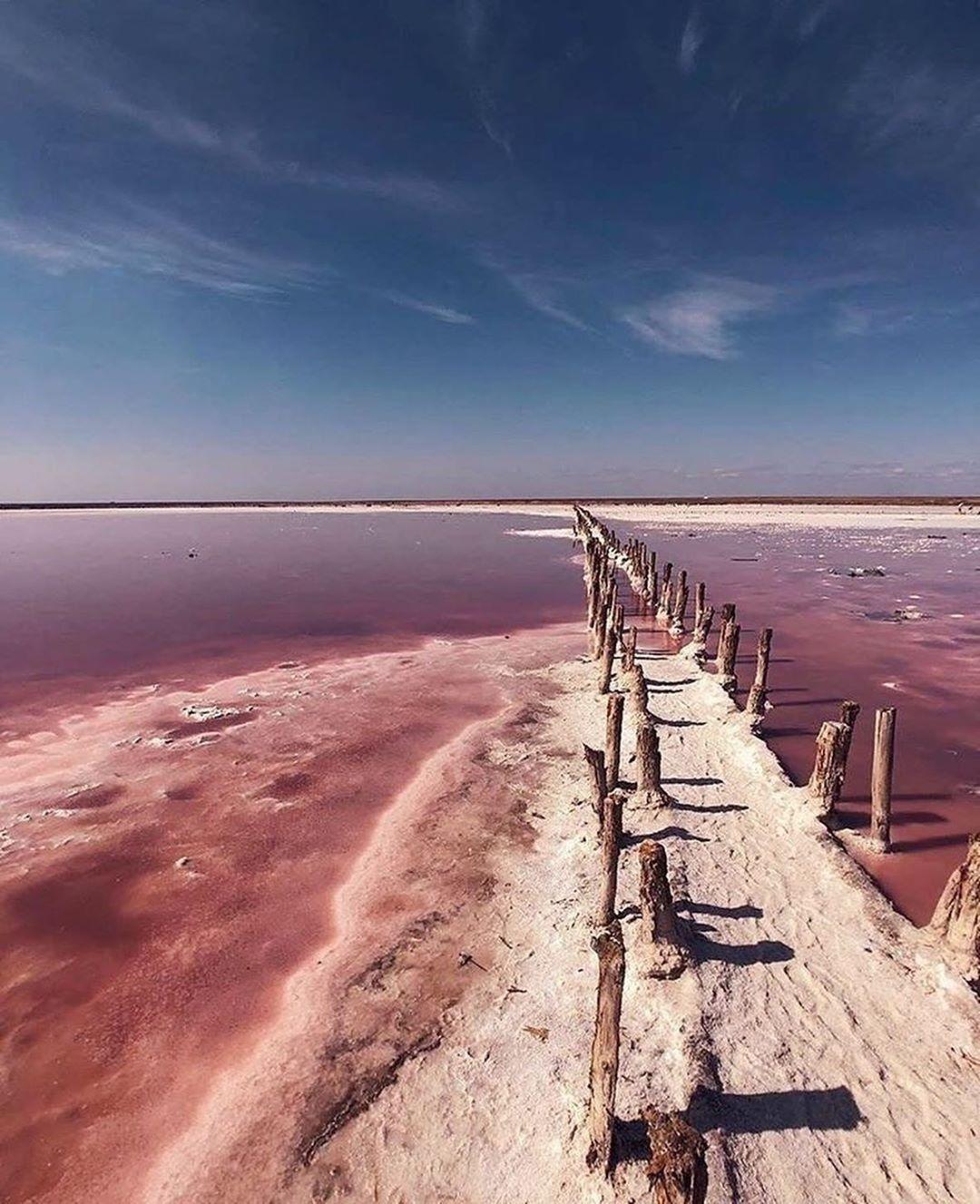 Лемурийскоерозовое озеро на Херсонщине / фото instagram.com/deinde.ukraine