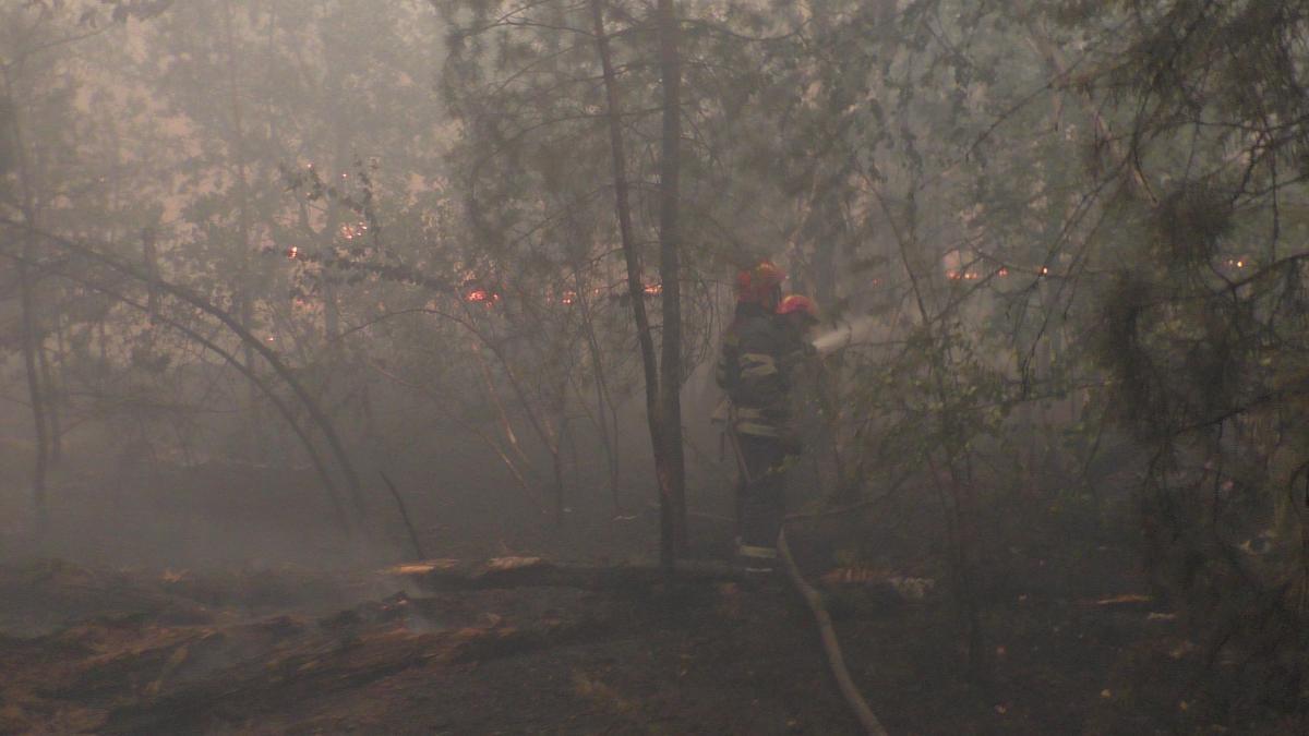 Тушение пожара продолжается / фото dsns.gov.ua