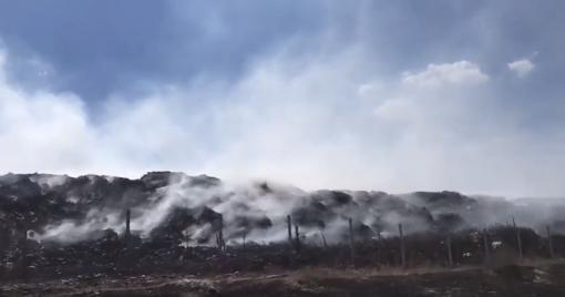 Из-за пожара город не может вывозить мусор наполигон / фото Северодонецкий горсовет