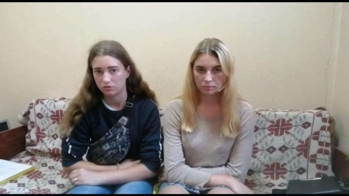 На маму дівчини-вандала складено адмінпротокол / скріншот з відео