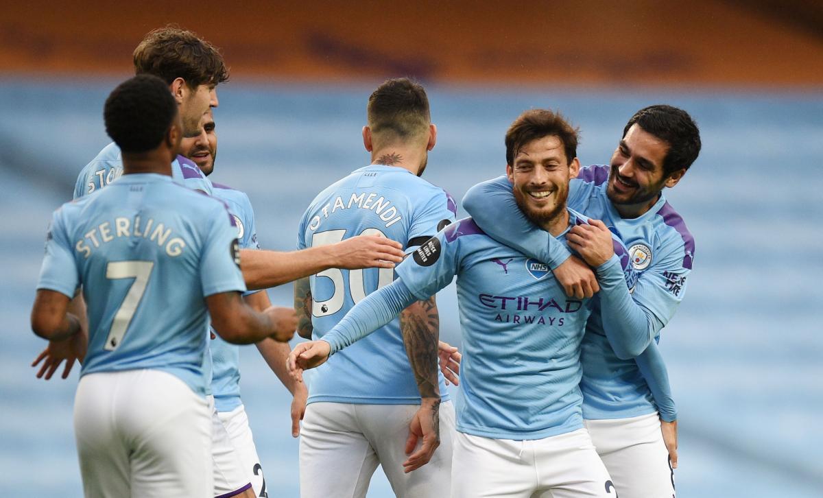 Игроки Манчестер Сити / фото REUTERS