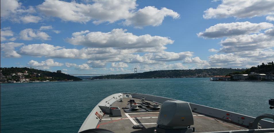 Группа SNMG2 прибыла до Черного моря 9 июля, а вторая – 7 июля с паузой на объединение с союзническими судами / mc.nato.int