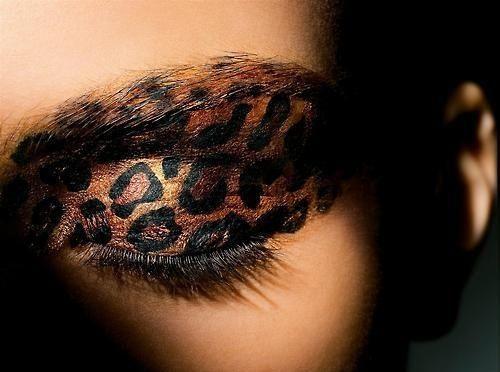 Леопардовий мейк / фото pinterest.com
