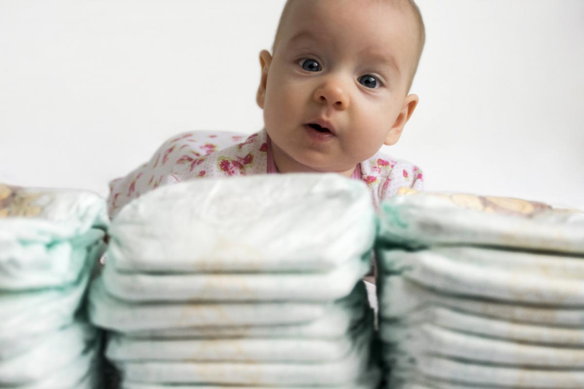 У 1965 році в США були запатентовані перші одноразові підгузники - «памперси»/ фото ua.depositphotos.com