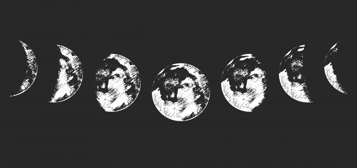 Новолуние - это время, когда Луна только зарождается / фото ua.depositphotos.com