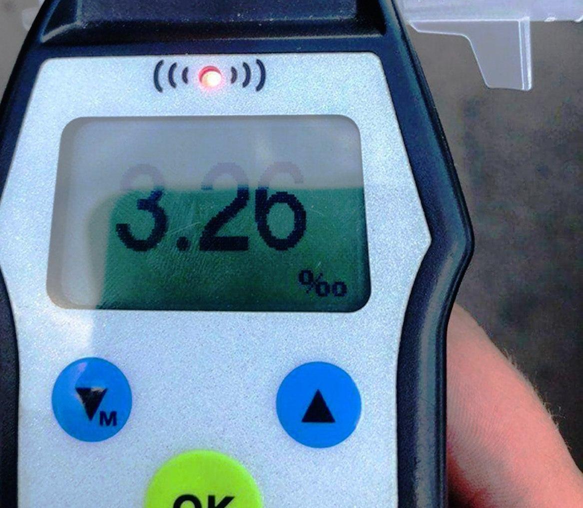 Водитель ехал без документов / фото: патрульной полиции Одесской области