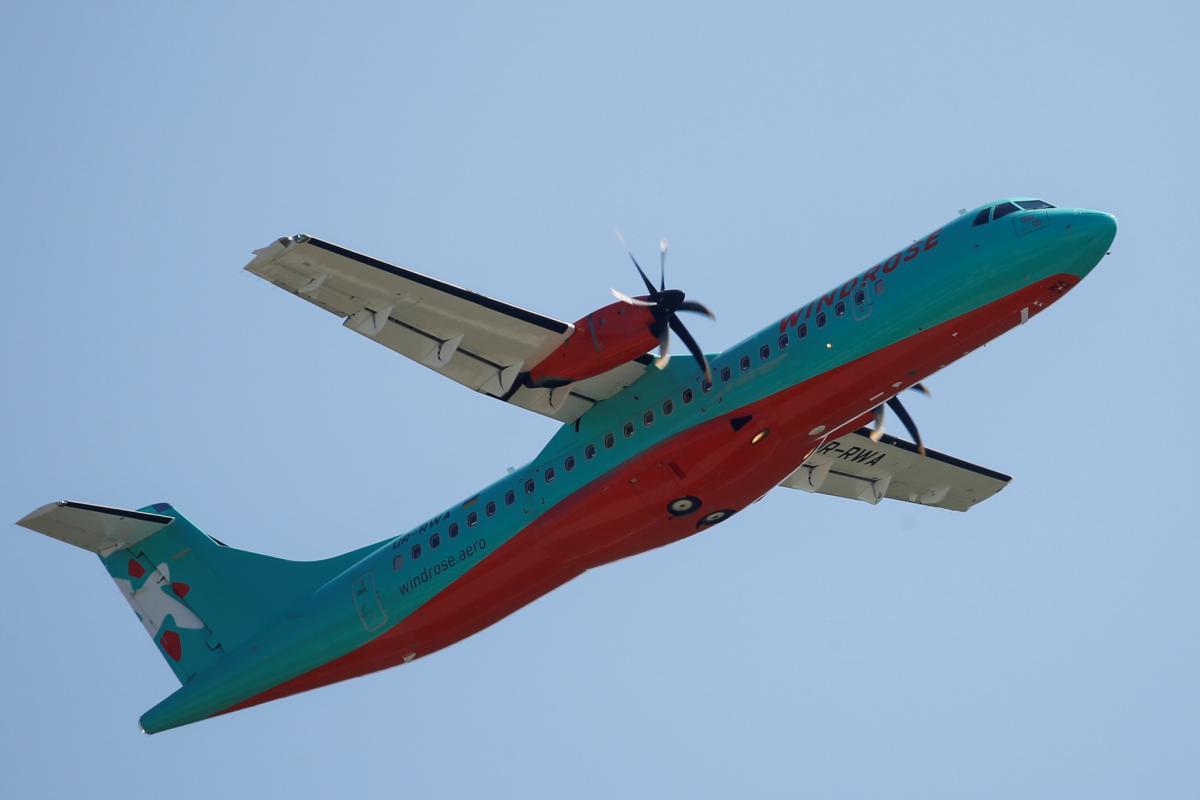 Самолет ATR 72-600 украинской авиакомпании Windrose / REUTERS