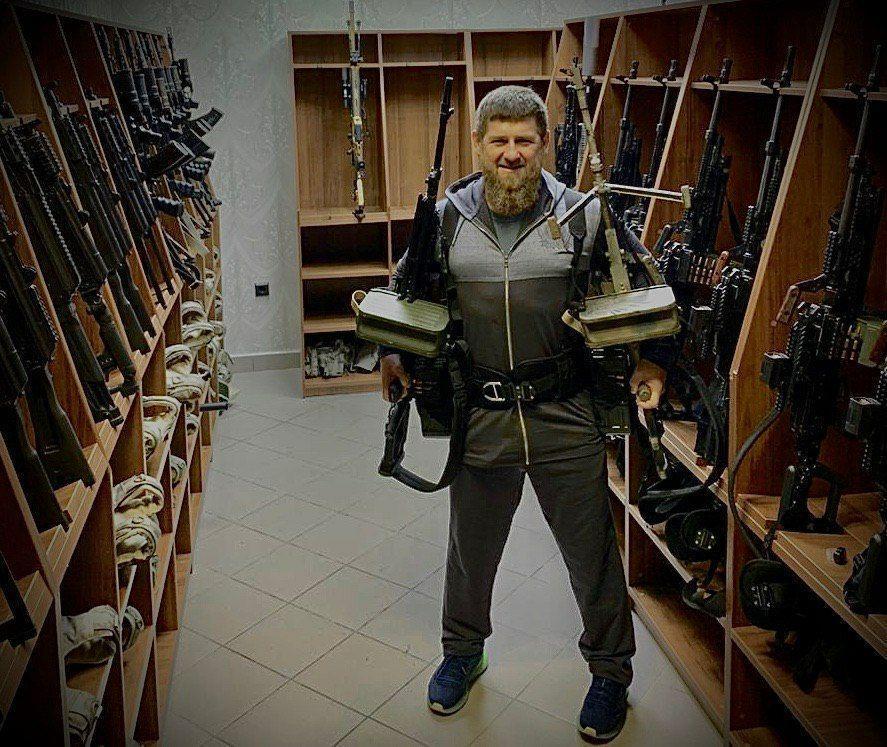 Кадыров опубликовал фото с пулеметами / фото t.me/RKadyrov_95