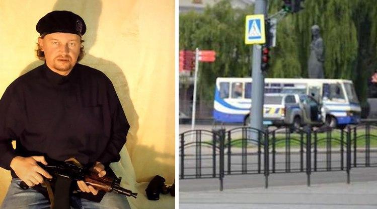 Полиция распространила информацию, что террорист Максим Кривош «находится на психиатрическом лечении» / коллаж УНИАН