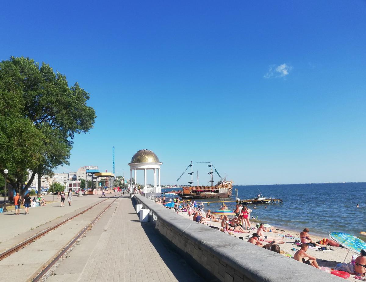 Центральный пляж Бердянска / фото Марина Григоренко