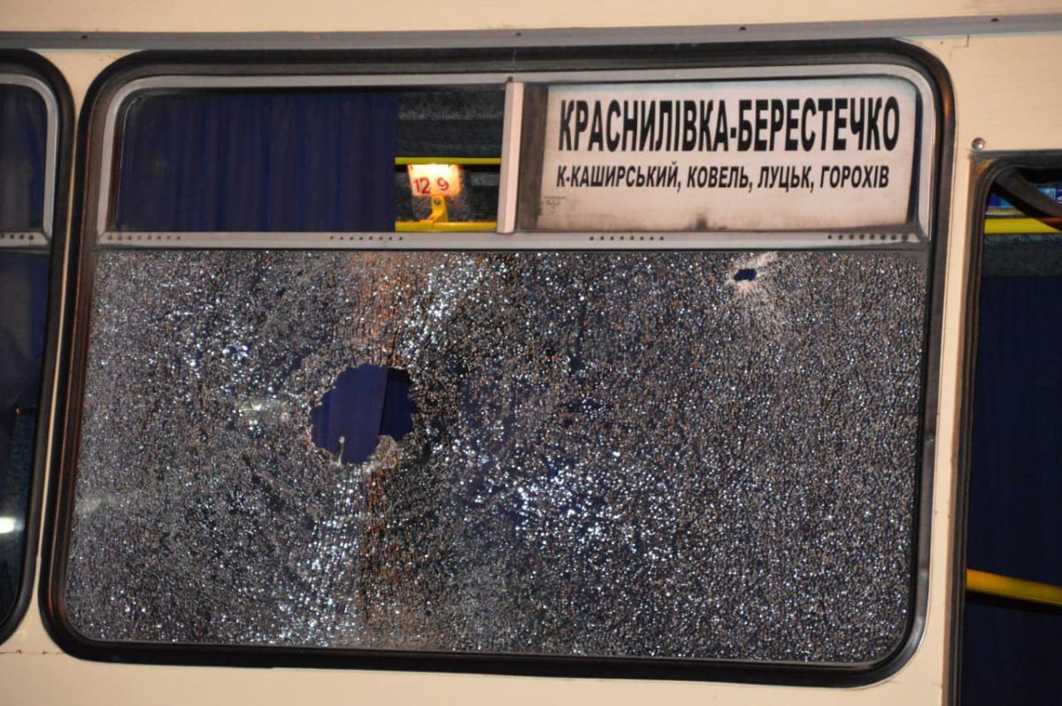 У Луцьку було захопленоавтобус / фото Facebook Антон Геращенко
