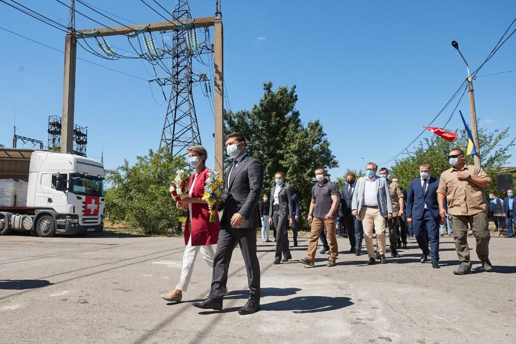 Zelensky and his Swiss counterpart Sommaruga are on a working visit to Donbas / Photo from president.gov.ua