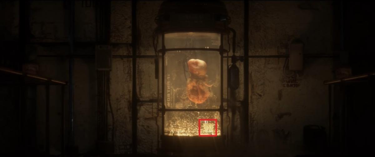 Та самая надпись на колбе / скриншот из трейлера