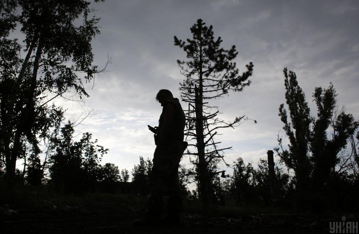 На обстрелы противника наши воины открывали ответный огонь \ фото УНИАН