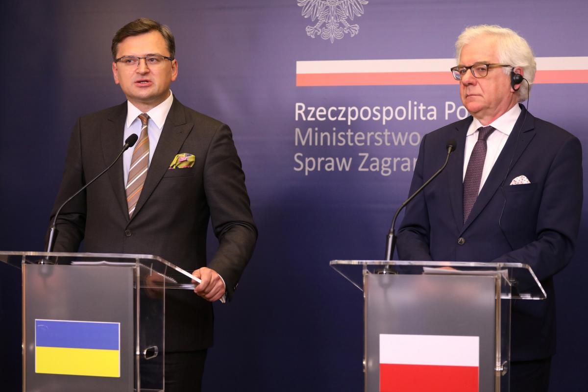 Дмитрий Кулеба и Яцек Чапутович / REUTERS