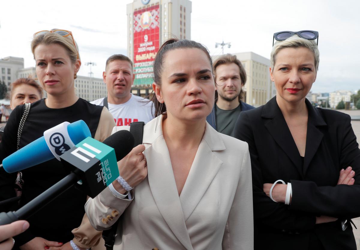 Sviatlana Tsikhanouskaya / REUTERS