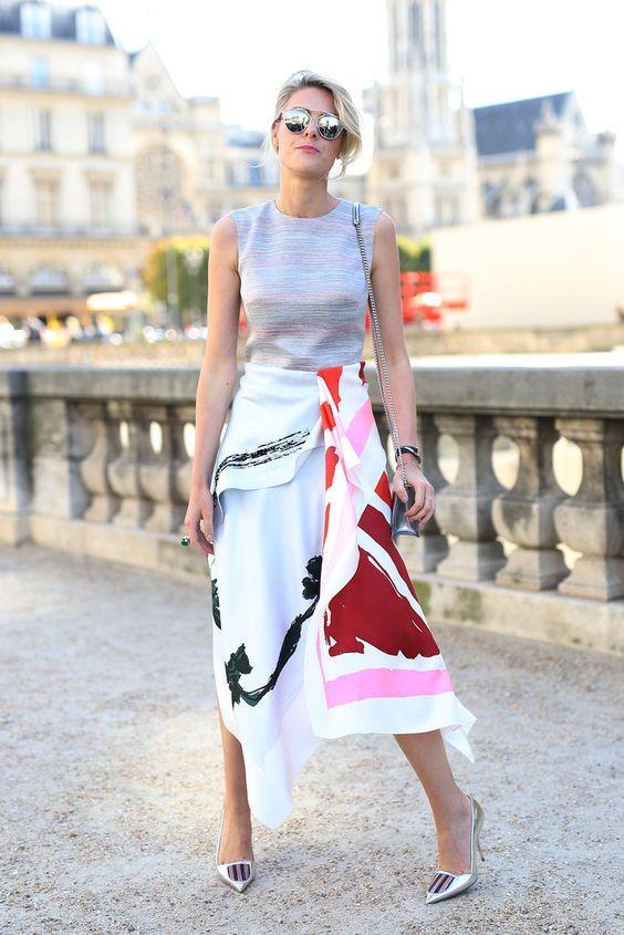 Ассиметричная юбка / фото pinterest.com