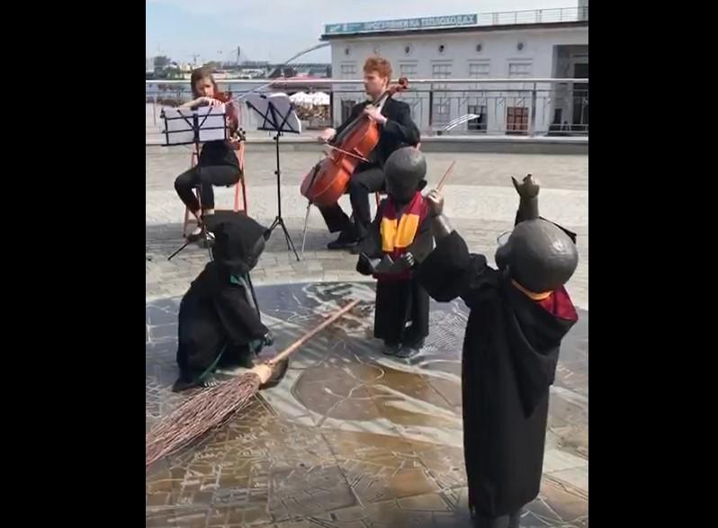 Малюки з Поштової вступили до Хогвортсу / Скріншот