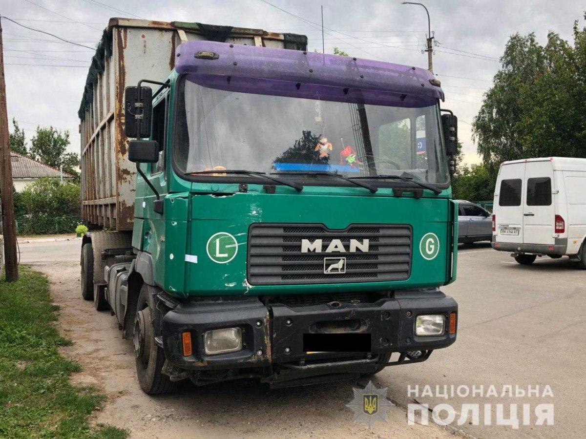 Водителя грузовика задержали / фото ГУ НП в Ривненскойобласти