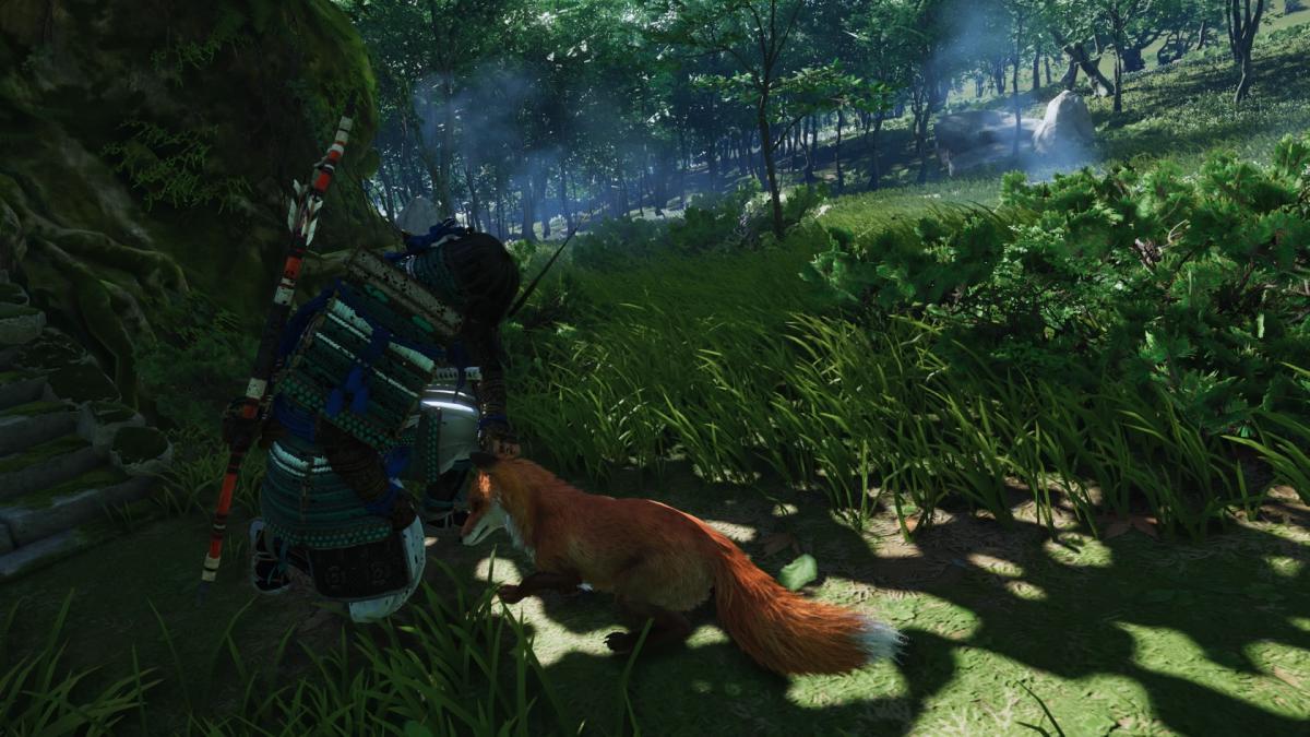 В игре можно даже погладить лисицу / скриншот