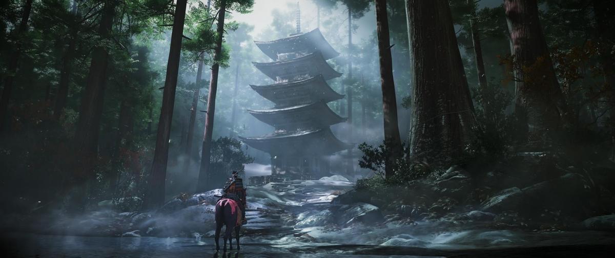 Пагоды в Ghost of Tsushima / скриншот