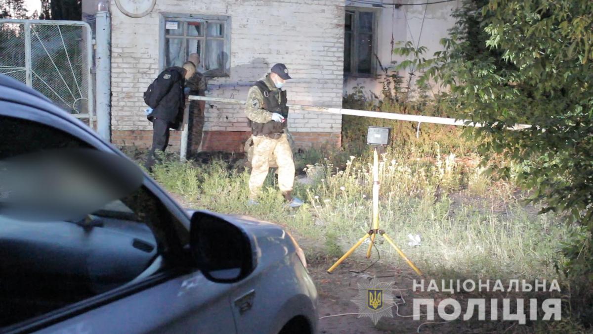В результате взрыва гранаты, которая была у подозреваемого, никто из полицейских не пострадал / npu.gov.ua