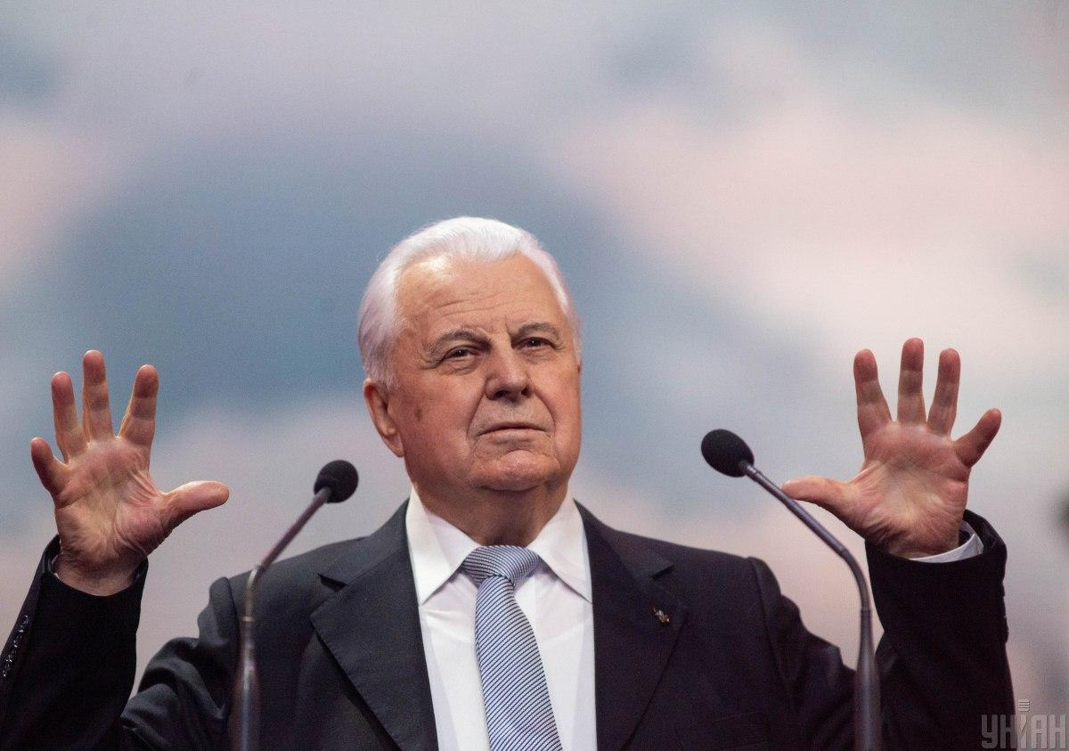 Ex-President Leonid Kravchuk represents Ukraine at the TCG on Donbas / Photo from UNIAN