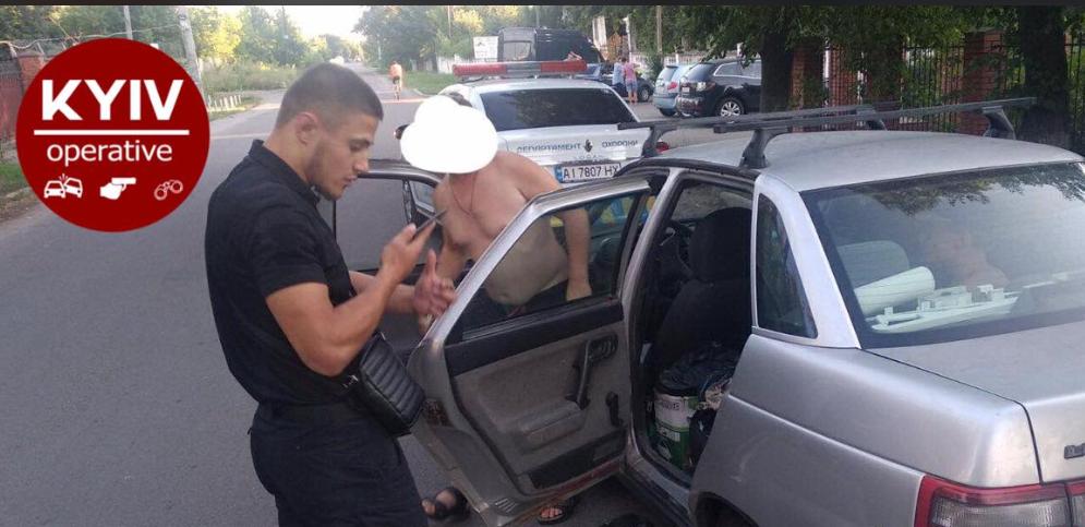 Мужчина задержан / фото facebook.com/KyivOperativ