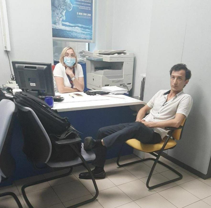 Мужчину, который захватил отделение банка, задержали / фото Антон Геращенко, Facebook
