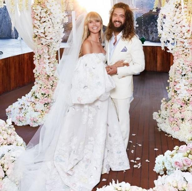 Том Каулитц и Хайди Клум женаты уже год / фото instagram.com/heidiklum