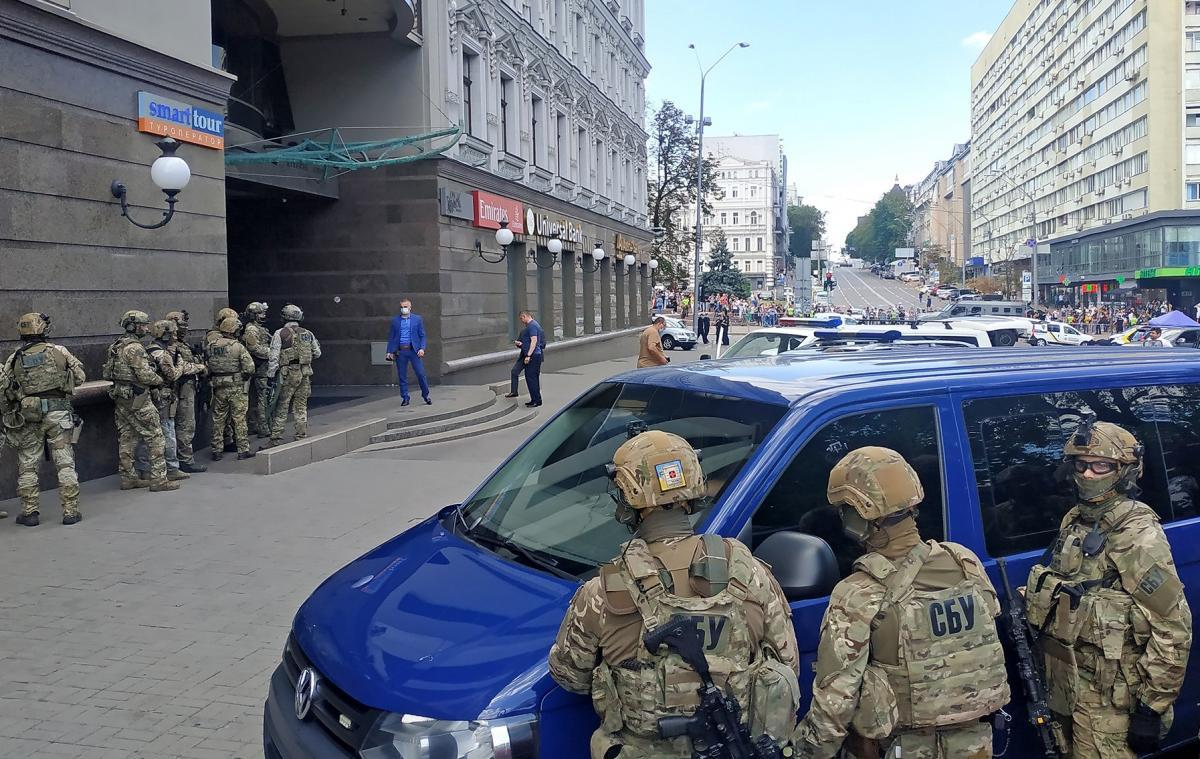 Эксклюзивное полное видео задержания террориста в БЦ Леонардо - видео / ssu.gov.ua