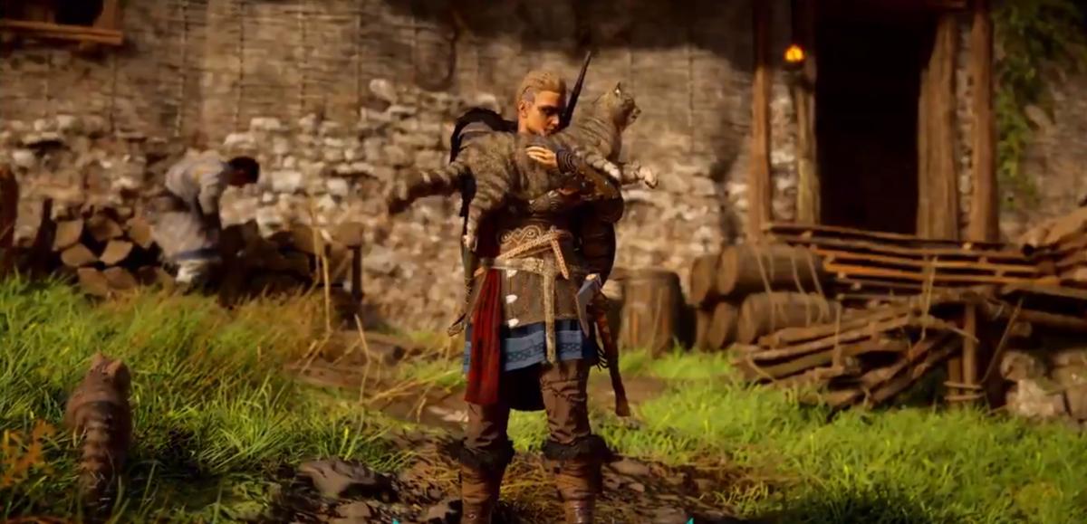 В игре Assassin's Creed Valhalla можно будет гладить кошек/ скриншот
