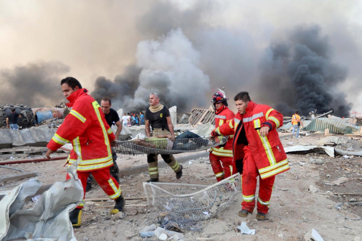 Последствия взрыва в Бейруте / REUTERS